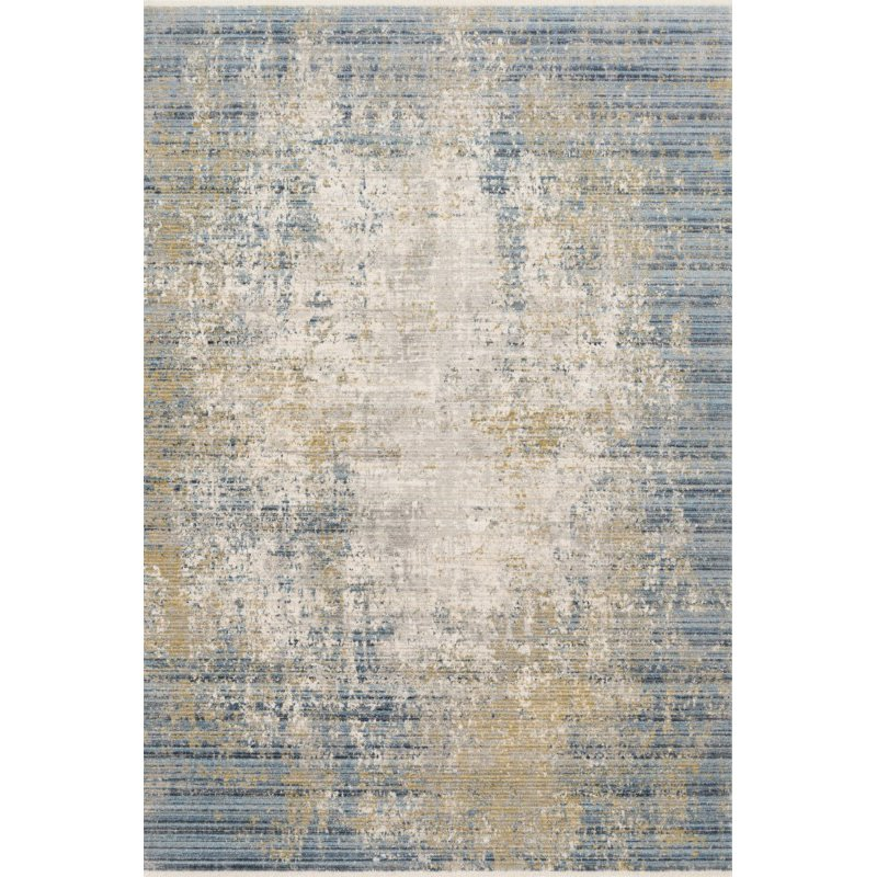 """Loloi Claire CLE-08 Traditional Power Loomed 9' 6"""" x 13' Rectangle Rug in Neutral and Sea (CLAECLE-08NESU96D0)"""