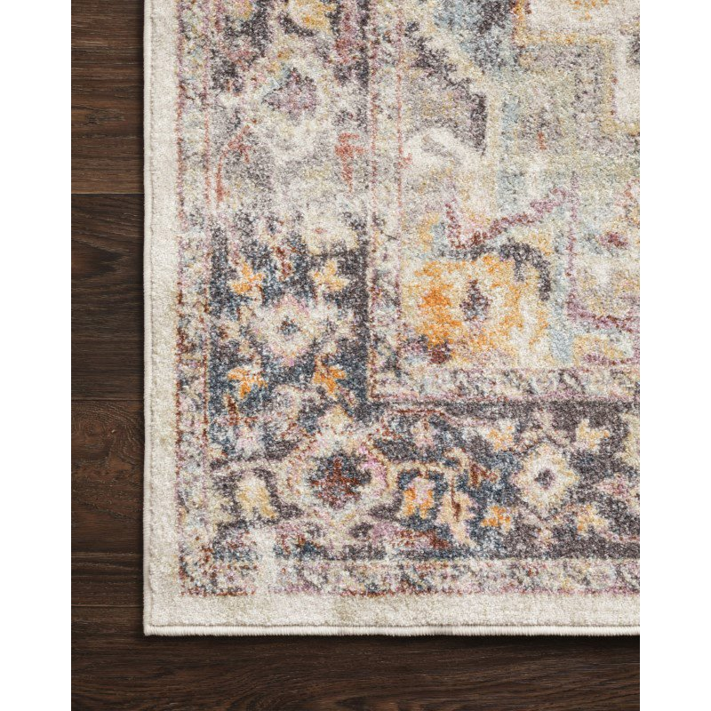 """Loloi Clara CLA-01 Transitional Power Loomed 2' 5"""" x 13' Runner Rug in Ivory and Charcoal (CLARCLA-01IVCC25D0)"""