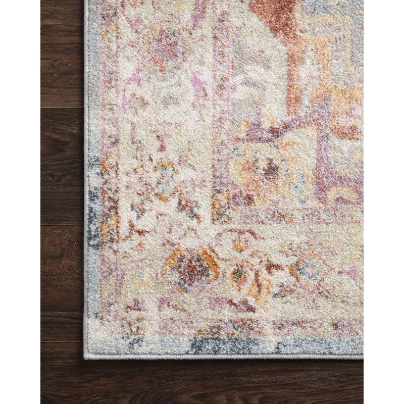 """Loloi Clara CLA-01 Transitional Power Loomed 3' 6"""" x 5' 9"""" Rectangle Rug in Sunset and Ivory (CLARCLA-01SSIV3659)"""