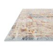 """Loloi Clara CLA-01 Transitional Power Loomed 6' 7"""" x 9' 2"""" Rectangle Rug in Sunset and Ivory (CLARCLA-01SSIV6792)"""