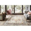 "Loloi Clara CLA-01 Transitional Power Loomed 7' 10"" x 10' 6"" Rectangle Rug in Ivory and Charcoal (CLARCLA-01IVCC7AA6)"