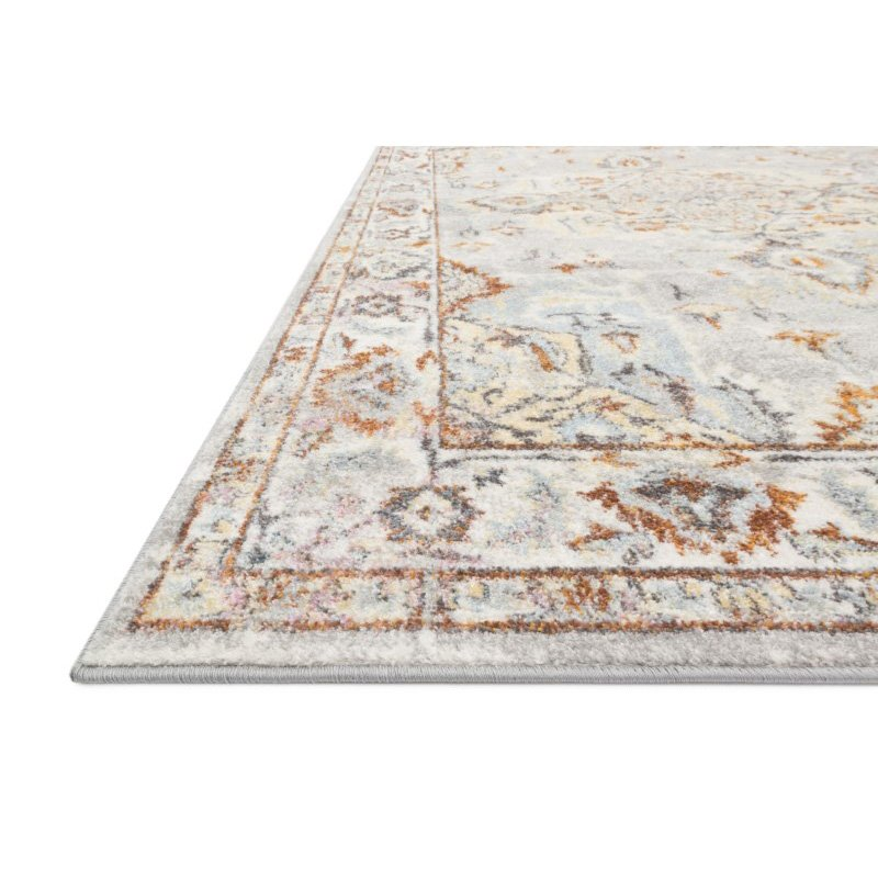 "Loloi Clara CLA-03 Transitional Power Loomed 7' 10"" x 10' 6"" Rectangle Rug in Grey and Ivory (CLARCLA-03GYIV7AA6)"