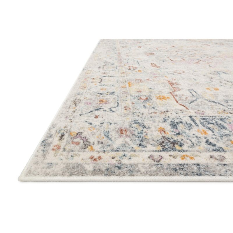 "Loloi Clara CLA-04 Transitional Power Loomed 7' 10"" x 10' 6"" Rectangle Rug in Lt Grey and Multi (CLARCLA-04LCML7AA6)"