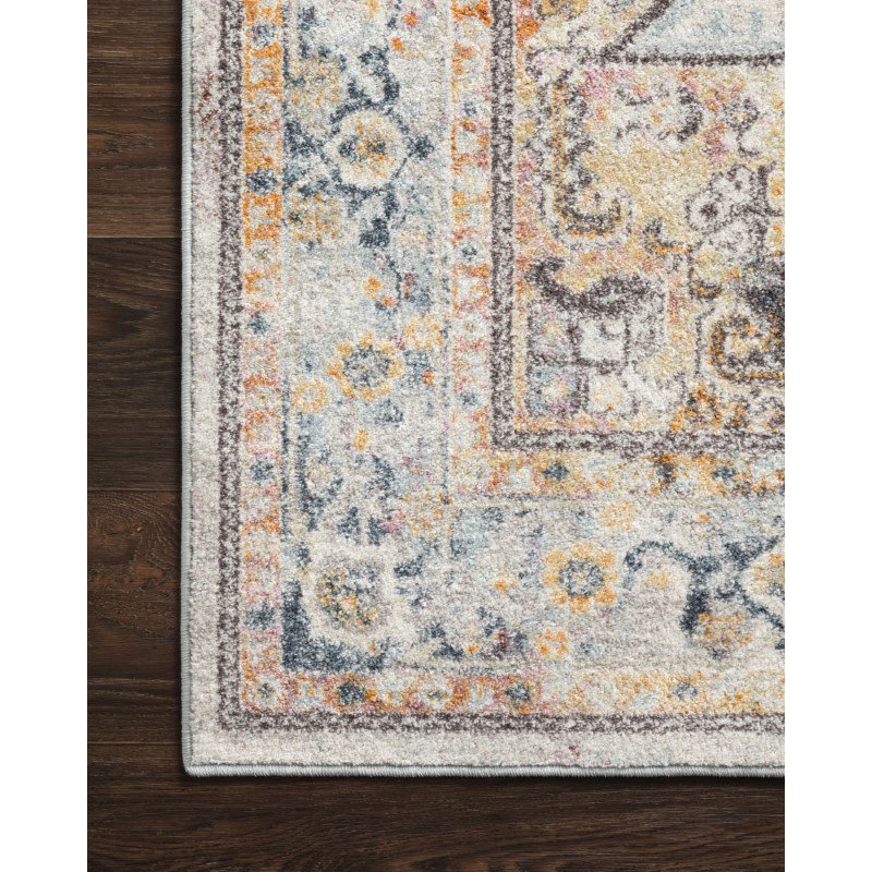 """Loloi Clara CLA-06 Transitional Power Loomed 5' 3"""" x 7' 7"""" Rectangle Rug in Mist and Multi (CLARCLA-06MIML5377)"""