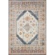 """Loloi Clara CLA-07 Transitional Power Loomed 2' 5"""" x 13' Runner Rug in Pebble and Fiesta (CLARCLA-07PPFD25D0)"""