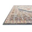 """Loloi Clara CLA-07 Transitional Power Loomed 5' 3"""" x 7' 7"""" Rectangle Rug in Pebble and Fiesta (CLARCLA-07PPFD5377)"""