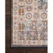 """Loloi Clara CLA-07 Transitional Power Loomed 6' 7"""" x 9' 2"""" Rectangle Rug in Pebble and Fiesta (CLARCLA-07PPFD6792)"""
