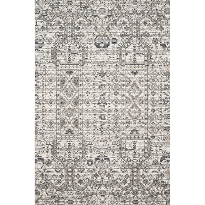 "Loloi Cole COL-01 Indoor/Outdoor Power Loomed 6' 7"" x 9' 4"" Rectangle Rug in Ivory and Multi (COLECOL-01IVML6794)"