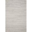 "Loloi Cole COL-02 Indoor/Outdoor Power Loomed 1' 6"" x 1' 6"" Sample Swatch Square Rug in Grey and Bone (COLECOL-02GYBO160S)"