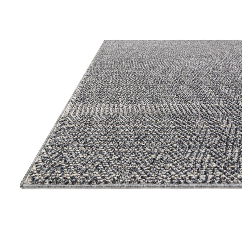 "Loloi Cole COL-02 Indoor/Outdoor Power Loomed 2' 1"" x 3' 4"" Rectangle Rug in Denim and Grey (COLECOL-02DEGY2134)"