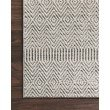 """Loloi Cole COL-02 Indoor/Outdoor Power Loomed 2' 1"""" x 3' 4"""" Rectangle Rug in Grey and Bone (COLECOL-02GYBO2134)"""