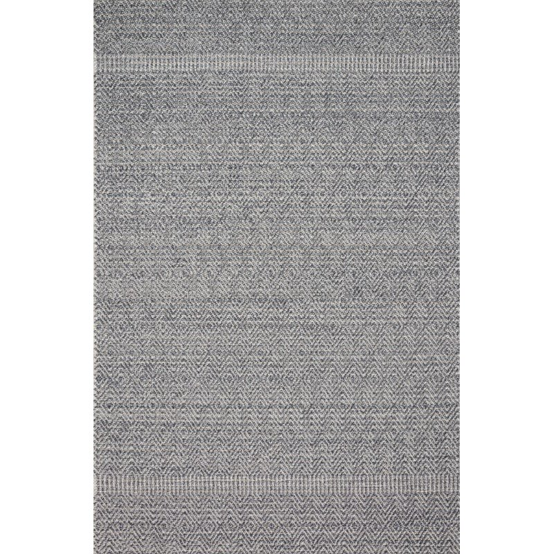 """Loloi Cole COL-02 Indoor/Outdoor Power Loomed 2' 2"""" x 5' 9"""" Runner Rug in Denim and Grey (COLECOL-02DEGY2259)"""