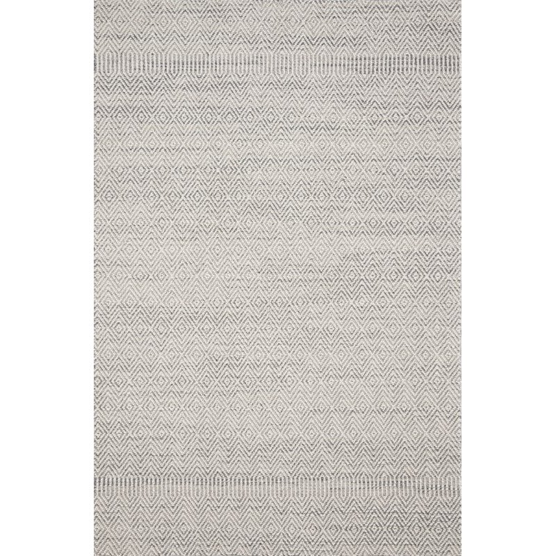 """Loloi Cole COL-02 Indoor/Outdoor Power Loomed 2' 7"""" x 10' Runner Rug in Grey and Bone (COLECOL-02GYBO27A0)"""
