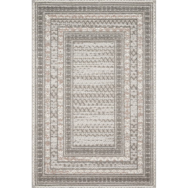 """Loloi Cole COL-03 Indoor/Outdoor Power Loomed 1' 6"""" x 1' 6"""" Sample Swatch Square Rug in Grey and Multi (COLECOL-03GYML160S)"""