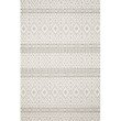 """Loloi Cole COL-04 Indoor/Outdoor Power Loomed 9' 6"""" x 12' 8"""" Rectangle Rug in Silver and Ivory (COLECOL-04SIIV96C8)"""
