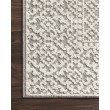 "Loloi Cole COL-05 Indoor/Outdoor Power Loomed 9' 6"" x 12' 8"" Rectangle Rug in Grey and Ivory (COLECOL-05GYIV96C8)"