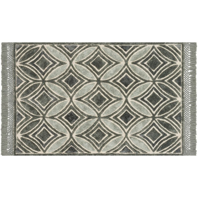 "Loloi Echo XE-01 Contemporary Hand Tufted Rectangle Rug 2' 3"" x 3' 9"" in Charcoal (ECHOXE-01CC002339)"