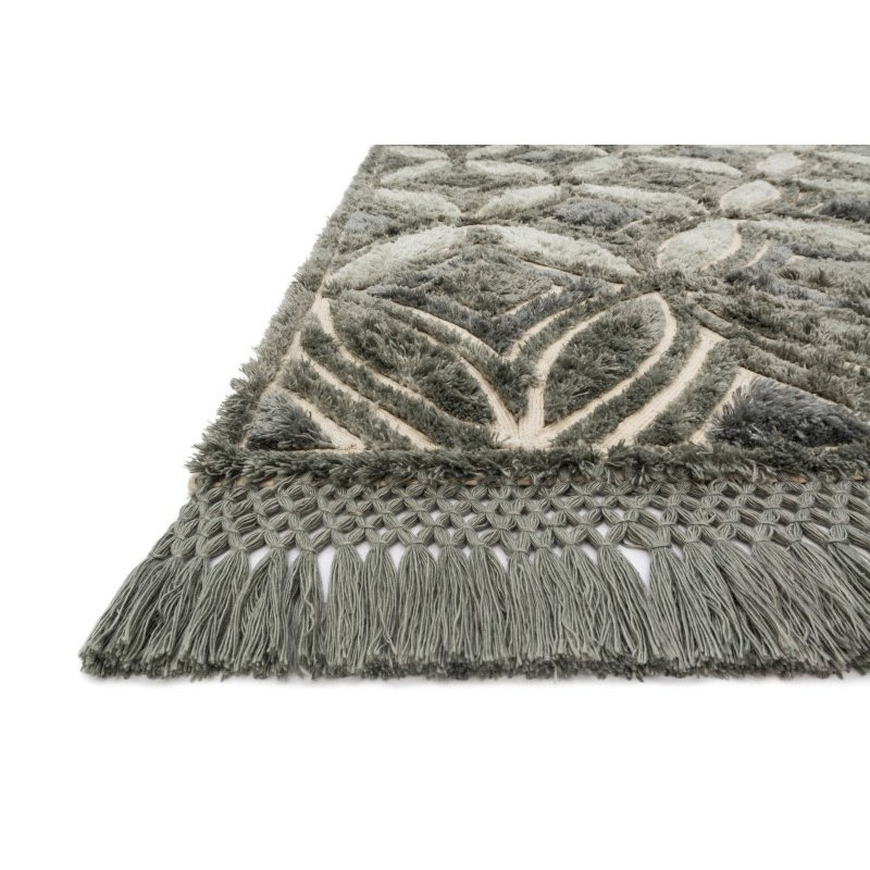 """Loloi Echo XE-01 Contemporary Hand Tufted Rectangle Rug 3' 6"""" x 5' 6"""" in Charcoal (ECHOXE-01CC003656)"""