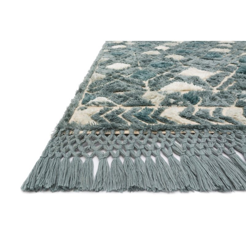 "Loloi Echo XE-02 Contemporary Hand Tufted Square Rug 1' 6"" x 1' 6"" in Ocean (ECHOXE-02OC00160S)"