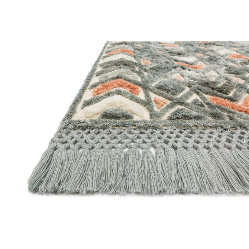 """Loloi Echo XE-03 Contemporary Hand Tufted Rectangle Rug 3' 6"""" x 5' 6"""" in Slate and Multi (ECHOXE-03SLML3656)"""