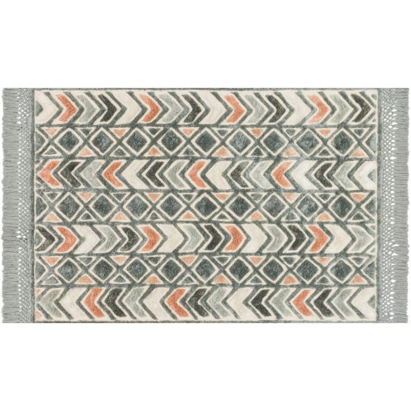 "Loloi Echo XE-03 Contemporary Hand Tufted Rectangle Rug 9' 3"" x 13' in Slate and Multi (ECHOXE-03SLML93D0)"