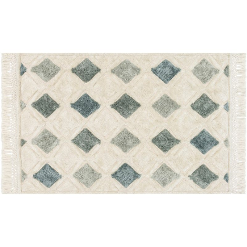 """Loloi Echo XE-05 Contemporary Hand Tufted Rectangle Rug 3' 6"""" x 5' 6"""" in Ivory and Grey (ECHOXE-05IVGY3656)"""