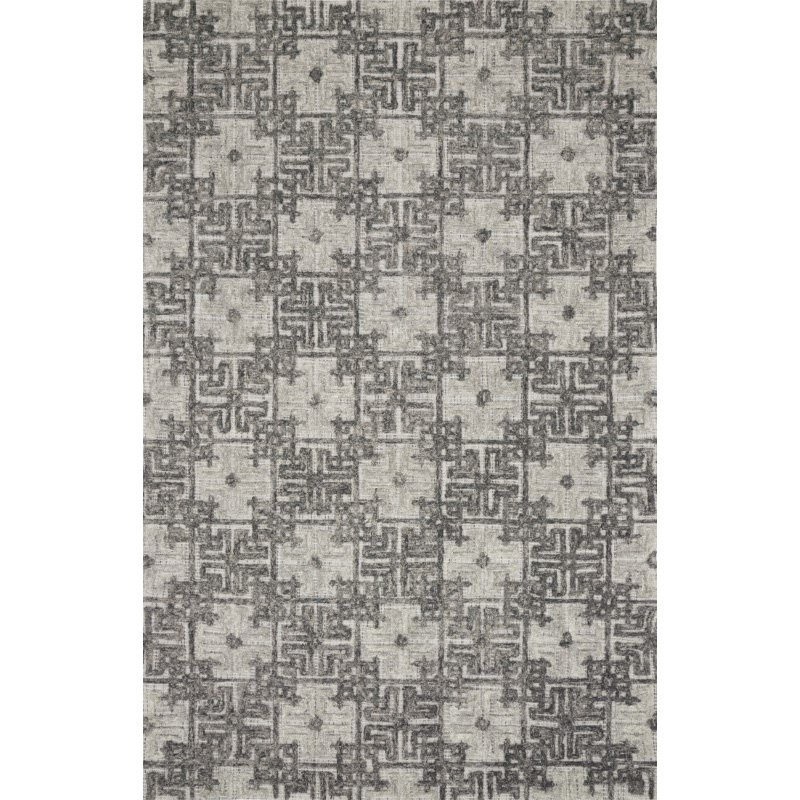 """Loloi Ehren EHR-01 Contemporary Hand Tufted 9' 3"""" x 13' Rectangle Rug in Charcoal and Fog (EHREEHR-01CCFG93D0)"""