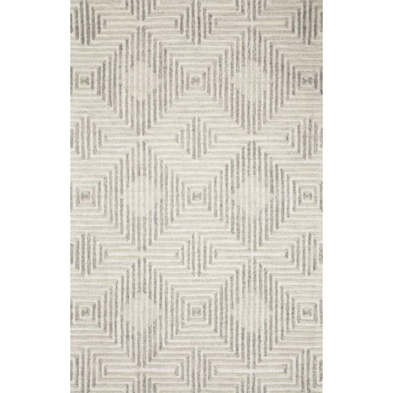 "Loloi Ehren EHR-02 Contemporary Hand Tufted 5' x 7' 6"" Rectangle Rug in Grey and Silver (EHREEHR-02GYSI5076)"
