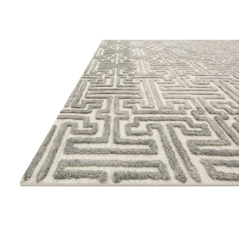 """Loloi Ehren EHR-03 Contemporary Hand Tufted 3' 6"""" x 5' 6"""" Rectangle Rug in Stone and Sand (EHREEHR-03SNSA3656)"""