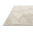 "Loloi Ehren EHR-04 Contemporary Hand Tufted 1' 6"" x 1' 6"" Sample Swatch Rug in Oatmeal and Ivory (EHREEHR-04OTIV160S)"