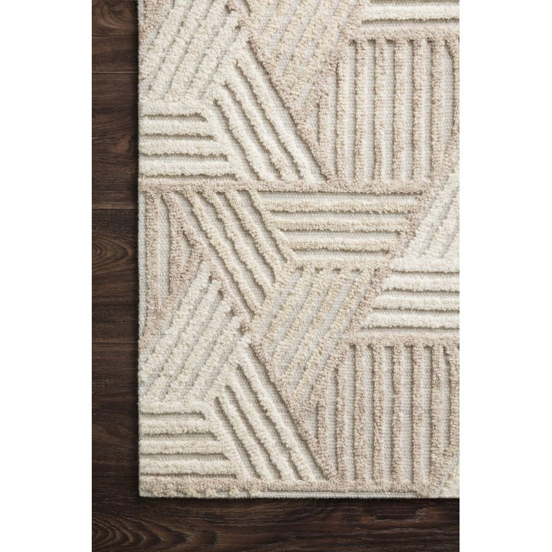 """Loloi Ehren EHR-04 Contemporary Hand Tufted 7' 9"""" x 9' 9"""" Rectangle Rug in Oatmeal and Ivory (EHREEHR-04OTIV7999)"""