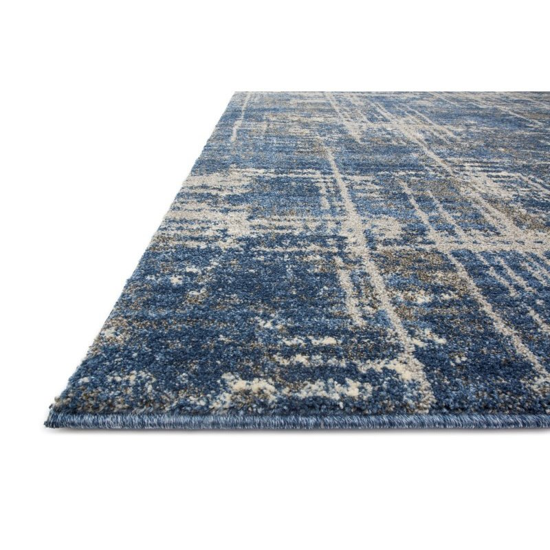 "Loloi Emory EB-12 Transitional Runner Rug 2' 5"" x 7' 7"" in Blue and Grey (EMOREB-12BBGY2577)"