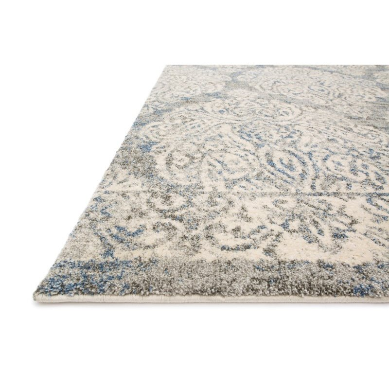 "Loloi Emory EB-14 Transitional Rectangle Rug 7' 7"" x 10' 6"" in Slate and Ivory (EMOREB-14SLIV77A6)"