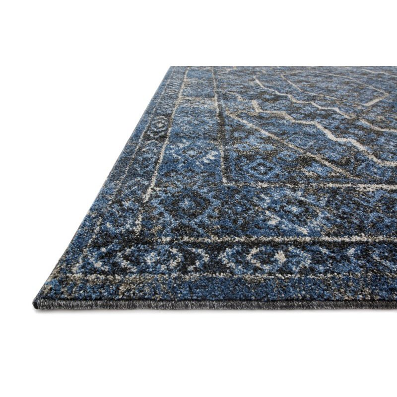 """Loloi Emory EB-15 Transitional Rectangle Rug 7' 7"""" x 10' 6"""" in Denim and Grey (EMOREB-15DEGY77A6)"""