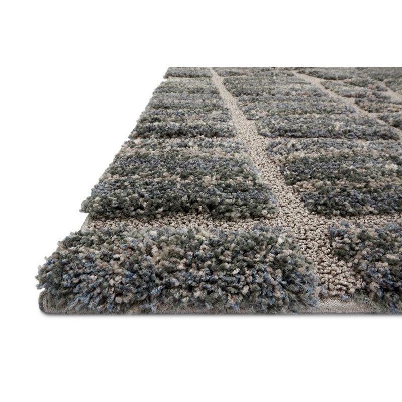 """Loloi Enchant EN-29 1' 6"""" x 1' 6"""" Square Rug in Multi and Grey (ENCOEN-29MLGY160S)"""