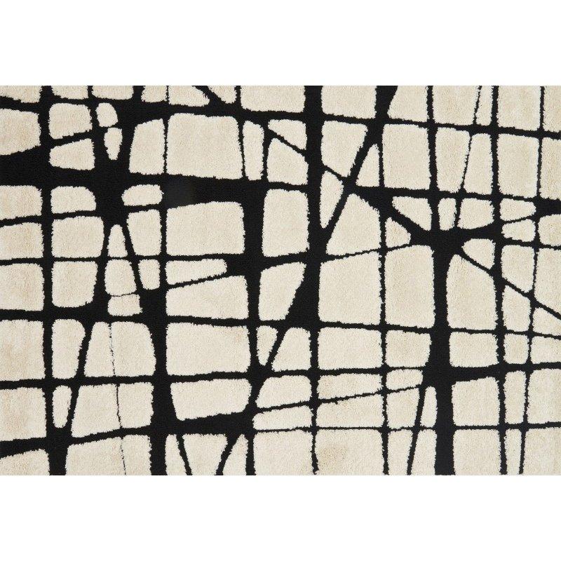 Loloi Enchant EN-29 9' x 12' Rectangle Rug in White and Black (ENCOEN-29WHBL90C0)