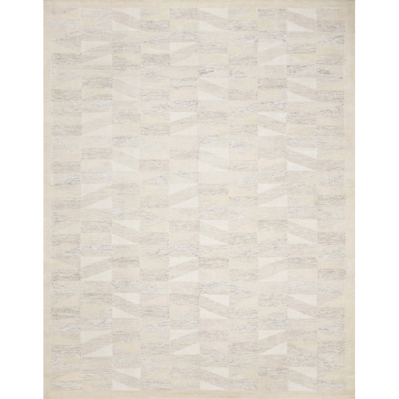 "Loloi Evelina EVE-01 Contemporary Hand Woven 1' 6"" x 1' 6"" Sample Square Rug in Natural (EVELEVE-01NA00160S)"