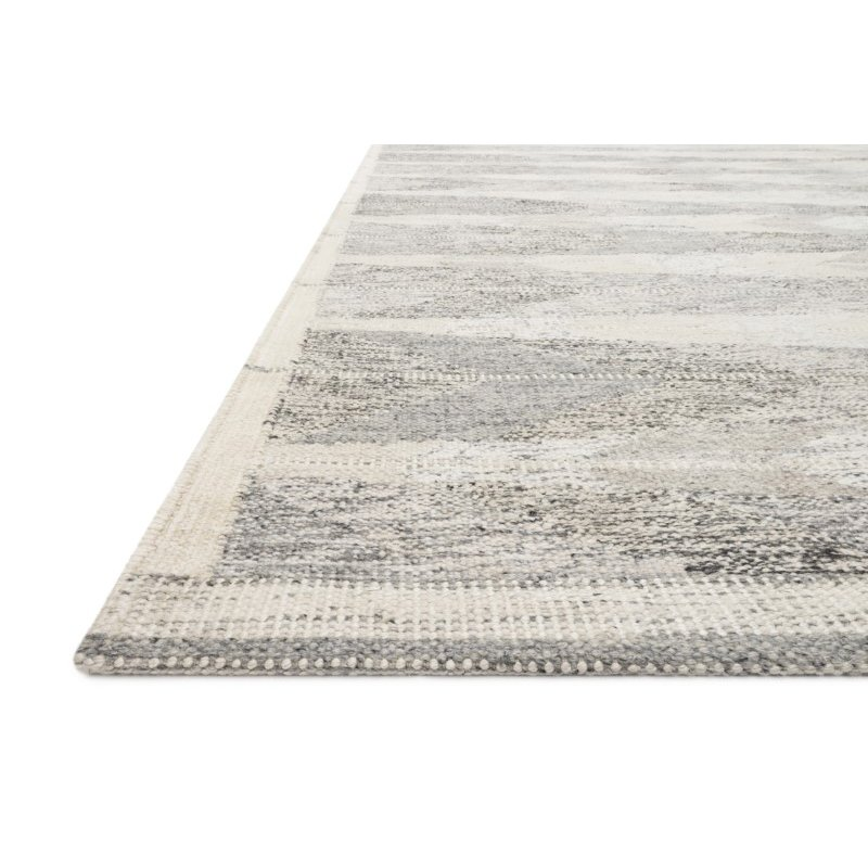 "Loloi Evelina EVE-02 Contemporary Hand Woven 5' x 7' 6"" Rectangle Rug in Pewter and Silver (EVELEVE-02PWSI5076)"