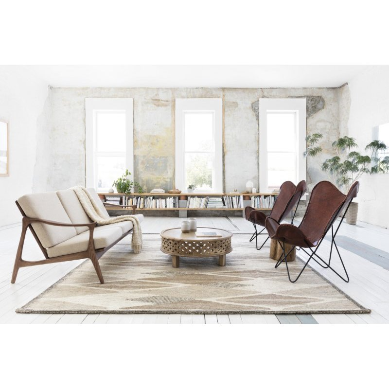 """Loloi Evelina EVE-04 Contemporary Hand Woven 7' 9"""" x 9' 9"""" Rectangle Rug in Taupe and Bark (EVELEVE-04TABS7999)"""