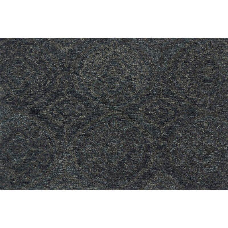 "Loloi Everson VX-01 1' 6"" x 1' 6"" Square Rug in Ink (EVRSVX-01IK00160S)"