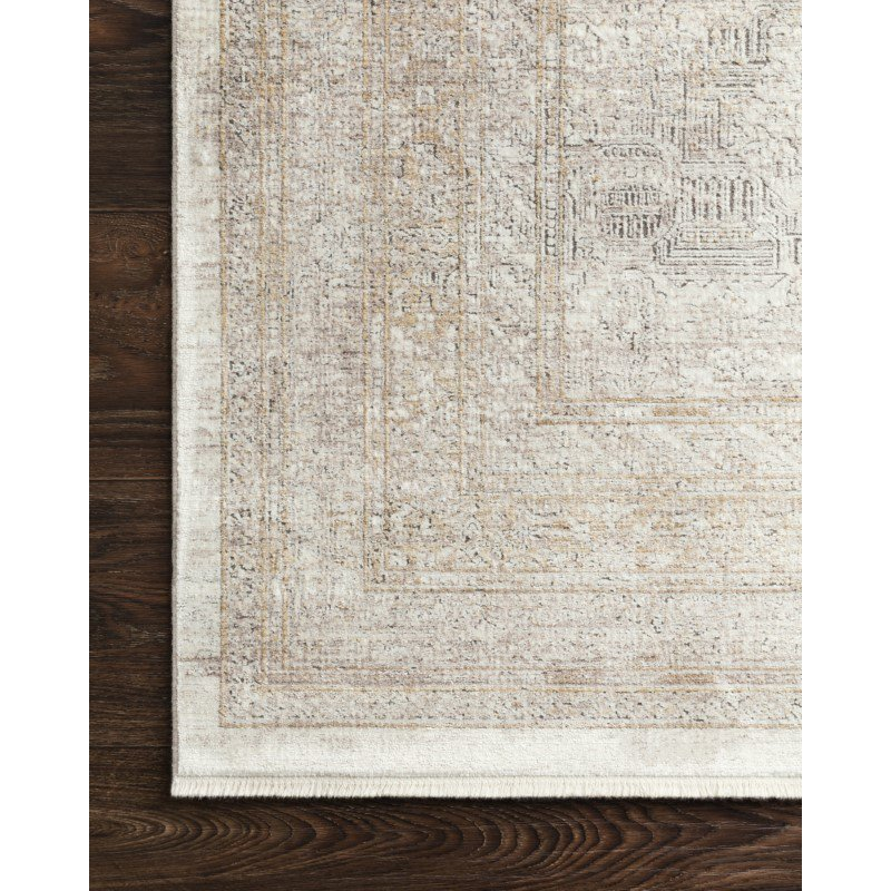"Loloi Gemma GEM-01 Traditional Power Loomed 2' 8"" x 10' Runner Rug in Sand and Ivory (GEMAGEM-01SAIV28A0)"