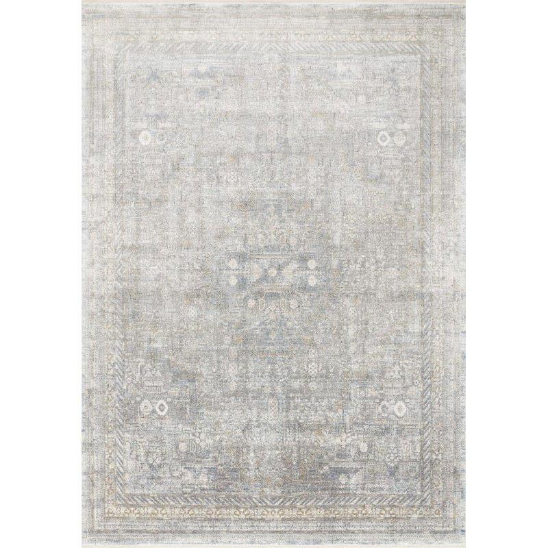 "Loloi Gemma GEM-01 Traditional Power Loomed 2' 8"" x 10' Runner Rug in Silver and Multi (GEMAGEM-01SIML28A0)"