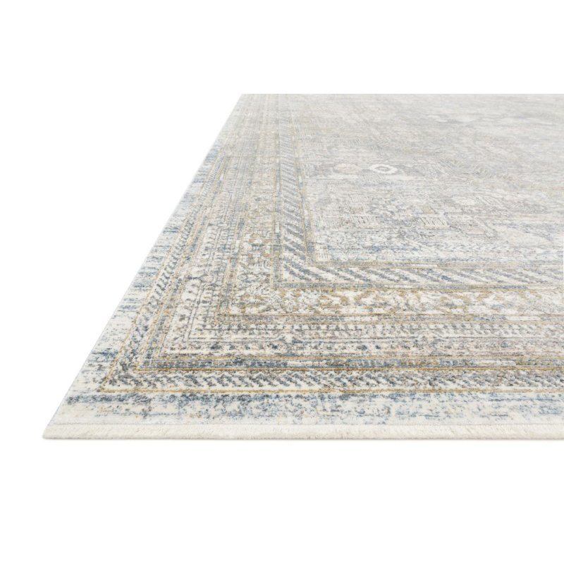 """Loloi Gemma GEM-01 Traditional Power Loomed 5' x 7' 3"""" Rectangle Rug in Silver and Multi (GEMAGEM-01SIML5073)"""