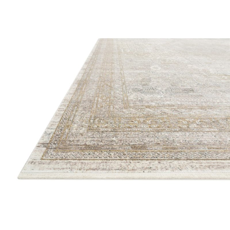 """Loloi Gemma GEM-01 Traditional Power Loomed 7' 7"""" x 9' 10"""" Rectangle Rug in Sand and Ivory (GEMAGEM-01SAIV779A)"""