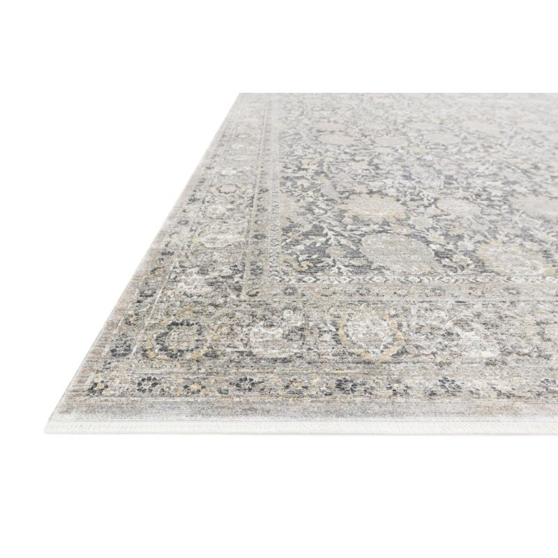 """Loloi Gemma GEM-02 Traditional Power Loomed 2' 8"""" x 7' 9"""" Runner Rug in Charcoal and Sand (GEMAGEM-02CCSA2879)"""