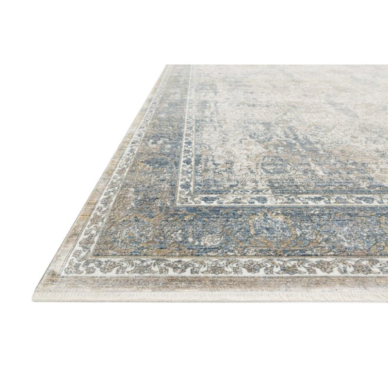 """Loloi Gemma GEM-02 Traditional Power Loomed 5' x 7' 3"""" Rectangle Rug in Sky and Ivory (GEMAGEM-02SCIV5073)"""