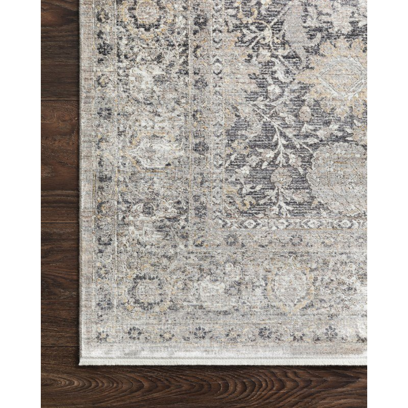 """Loloi Gemma GEM-02 Traditional Power Loomed 9' 6"""" x 12' 6"""" Rectangle Rug in Charcoal and Sand (GEMAGEM-02CCSA96C6)"""