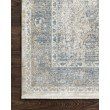 """Loloi Gemma GEM-02 Traditional Power Loomed 9' 6"""" x 12' 6"""" Rectangle Rug in Sky and Ivory (GEMAGEM-02SCIV96C6)"""