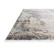 "Loloi Gemma GEM-03 Traditional Power Loomed 1' 6"" x 1' 6"" Sample Swatch Square Rug in Neutral (GEMAGEM-03NE00160S)"