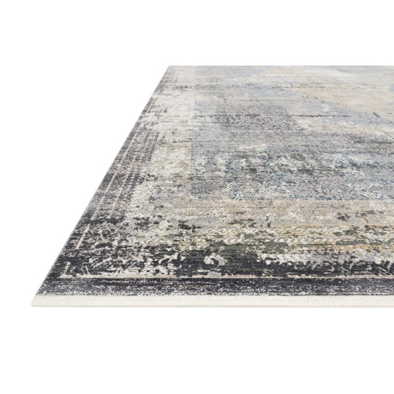"""Loloi Gemma GEM-04 Traditional Power Loomed 2' 8"""" x 12' Runner Rug in Charcoal and Multi (GEMAGEM-04CCML28C0)"""